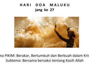 27e Hari Doa Maluku