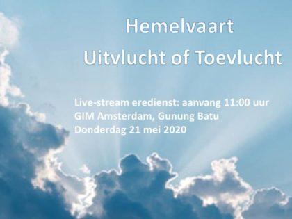 Live uitzending Eredienst Hemelvaartsdag 21-05-2020 Voorganger Pdt. E.S. Patty