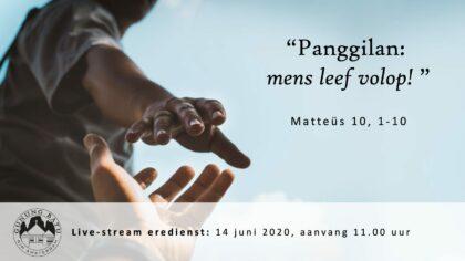 Live uitzending Eredienst 14-06-2020 Voorganger Pdt. E.S. Patty