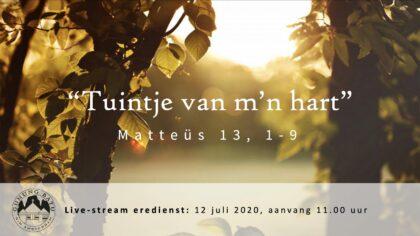 Live uitzending Eredienst 12-07-2020 Voorganger Ludia Huijzer-Wattimury