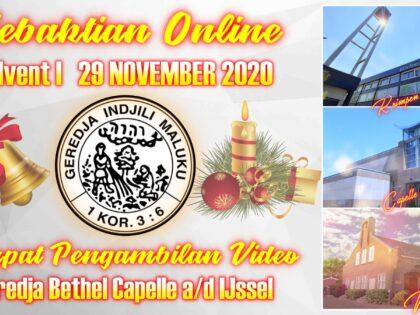 Uitzending Eredienst Advent I  29-11-2020 Voorganger Ds. A. Matahelumual