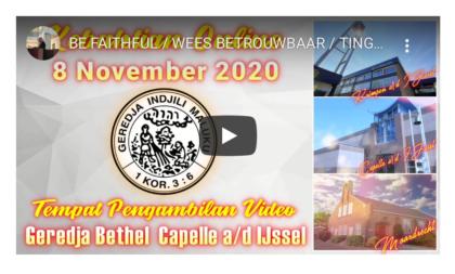 Online Eredienst 08-11-2020 Voorganger Pdt. J. Matahemual