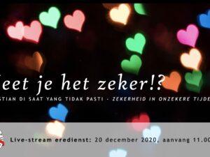 Live uitzending Eredienst 20-12-2020 Voorganger Pdt. E.S. Patty