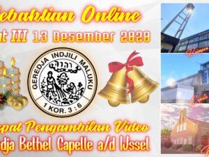Uitzending Eredienst Advent III 13-12-2020 Voorganger Ds. A. Matahelumual