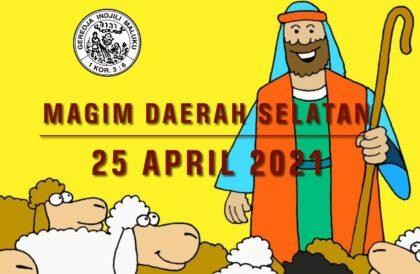 Online Zondagschoolvereniging MAGIM  gemeente Venray 25 April 2021 vanaf 10.00 uur