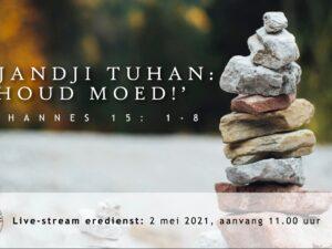 Live Stream Eredienst 02-05-2021 om 11.00 Voorganger Nj. L. Huijzer-Wattimury