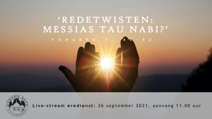 Live Stream Eredienst 26-09-2021 om 11.00 uur Pdt. E.S. Patty