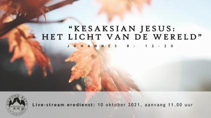 Live Stream Eredienst 10-10-2021 om 11.00 uur Pdt. E.S. Patty